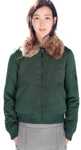 Zara Trf Aviator Bomber Forest green Jacket