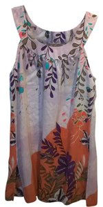 Hilo Hattie 100% Silk Never Worn Top Multi Colored, Floral