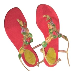 Rene Caovilla Red Sandals