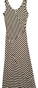 Cream and black Maxi Dress by Monteau Los Angeles