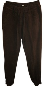 Guess 100% Silk Elasticated Ankles Snap Closure Pockets Trouser Pants Black