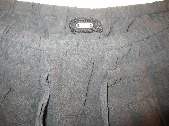 Guess Silk Elasticated Ankles Snap Closure Pockets Trouser Pants Black
