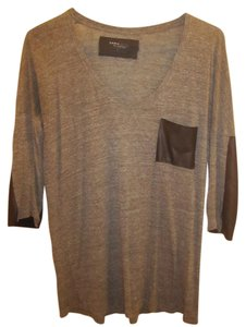 Zara T Shirt Grey & Balck