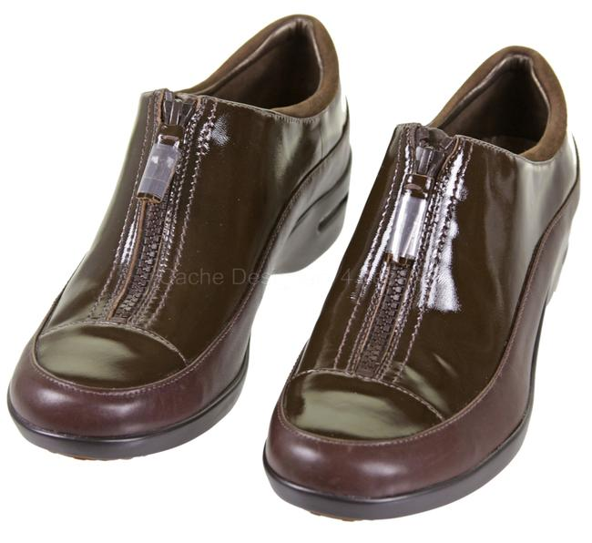 Item - Brown Dorie Nke Air Slip-on Loafers Patent Leather Sneakers Size US 9 Regular (M, B)
