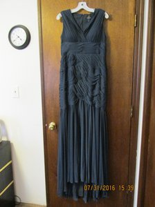Adrianna Papell Charcoal David's Bridal Dress