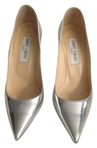 Jimmy Choo Mirror Silver Pumps