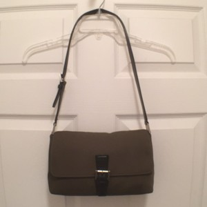 Coach Canvas Leather Hobo Shoulder Bag