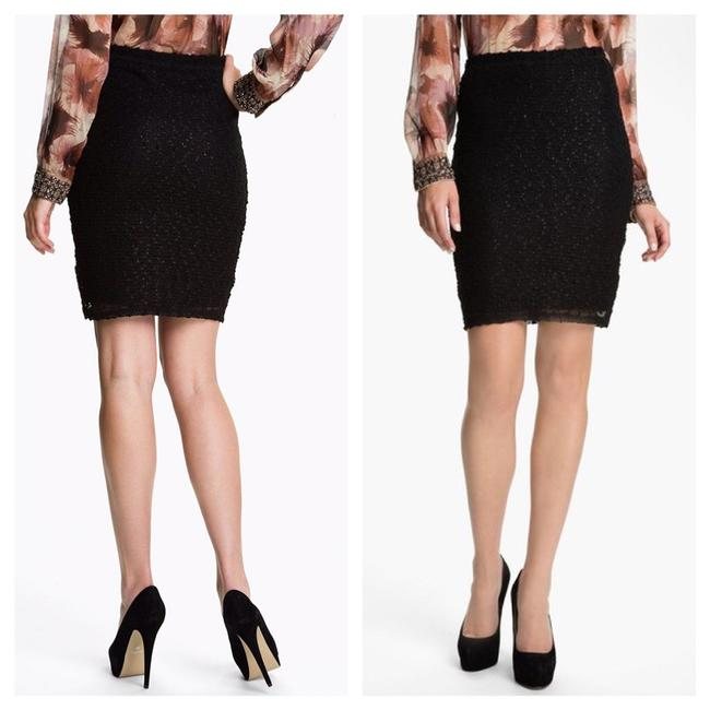 Sanctuary Boucle Knit Bodycon Mini Skirt Black Image 1