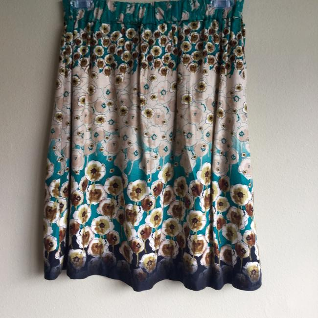 Lily White Black Floral Tan Skirt Blue Image 3