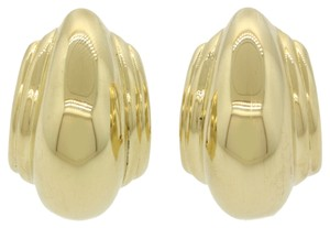 Tiffany & Co. Authentic Tiffany & Co. Paloma Picasso 18k Solid Yellow Gold Vendom Large Huggie Hoop Earrings