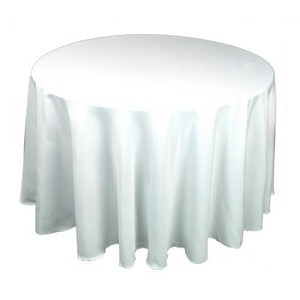White Polyester Tablecloths And Napkins