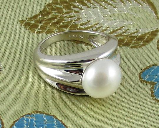 Honora Honora Cultured Pearl 9.5mm Sterling Silver Ring - Size 6 Image 5