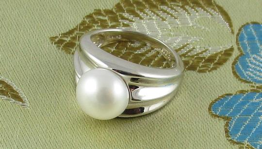 Honora Honora Cultured Pearl 9.5mm Sterling Silver Ring - Size 6 Image 8