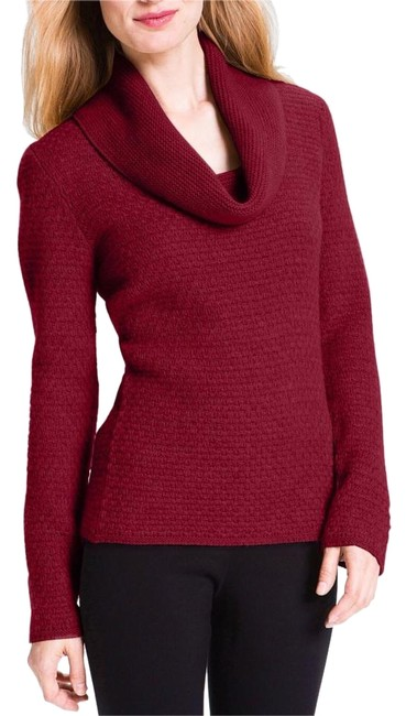 Preload https://img-static.tradesy.com/item/18268012/classiques-entier-parsival-cowl-neck-red-sweater-0-3-650-650.jpg