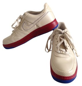 Nike Air Force 1 Cream, Red, Blue Athletic