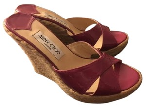 Jimmy Choo Fucshia Patent Wedges
