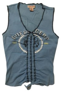 Guess Sleeveless Crop Top Blue
