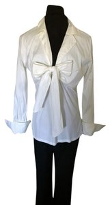 Farinaz Taghavi Shirt Bow French Cuffs Top White