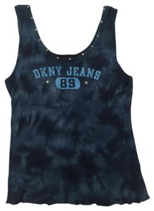 DKNY Tie Dye Cotton Top Blue