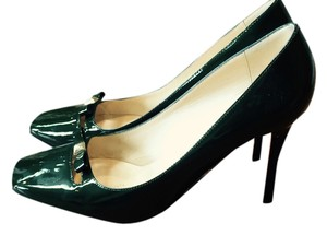 Kate Spade Forest Green Patent Leather Pumps