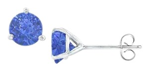 Fine Jewelry Vault Martini Style Sapphire Stud Earrings with 1.00 CT TGW