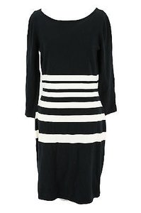 Lauren Ralph Lauren short dress black Striped Womens Cotton Blend on Tradesy