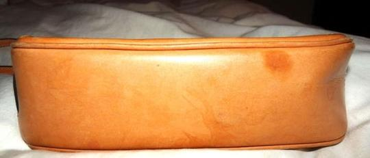 Coach Classic Leather Wristlet in Brown/Tan