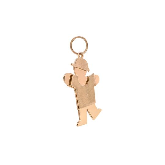 Avital & Co Jewelry 14k Yellow Gold Boy Charm Image 1