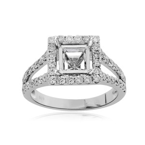 Avital & Co Jewelry 0.83 Carat Diamond Engagement Ring 14k White Gold Setting