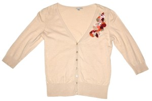 Halogen Cardigan Pretty 3/4 Sleeve Shirt Dressy Sweater