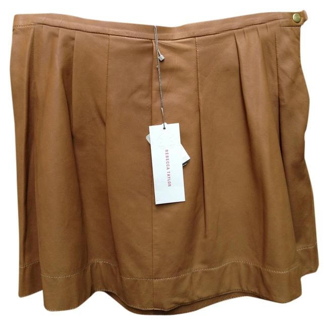 Preload https://item1.tradesy.com/images/rebecca-taylor-cameltan-leather-miniskirt-size-8-m-29-30-1827930-0-0.jpg?width=400&height=650