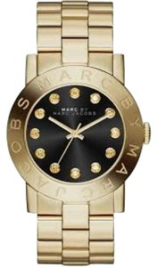 Marc Jacobs Marc by Marc Jacobs Amy Glitz Black Dial Steel Ladies Watch MBM3334