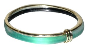 Alexis Bittar NEW Alexis Bittar Paired Lucite Gold Bangle Bracelets Fern Green