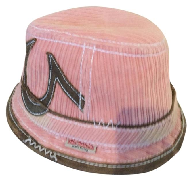 Item - Pink and Brown Leather Trim XL Hat