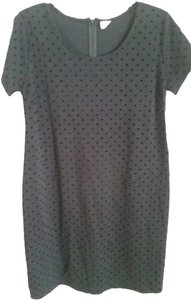 Old Navy Black Polka Dot Shift Maternity Dress