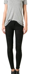 Hudson Leather suede pants jeans Skinny Pants Black
