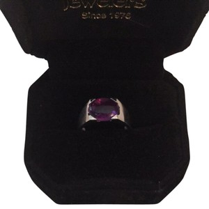 PANDORA Amethyst Gold Ring