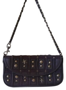 Betsey Johnson Leather Studded Stars Metal Shoulder Bag