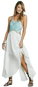 Free People Turquoise Beaded Boho Dress