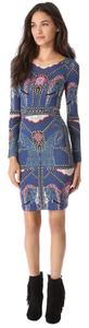Mara Hoffman short dress Multi Elephant Cut Out Blue on Tradesy