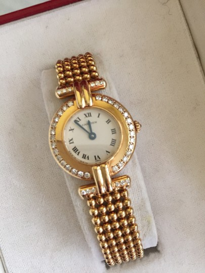 Cartier Cartier Rivoli Paris 18k Yellow Gold Watch With Diamonds