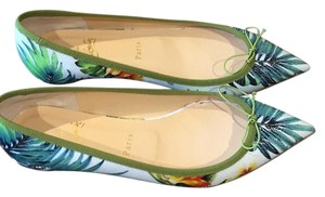 Christian Louboutin White Hawaii Multi Color Flats