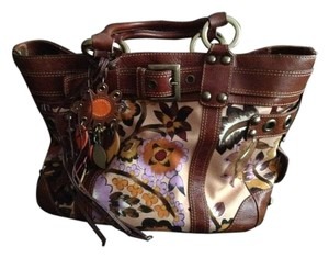 Isabella Fiore Satchel in Brown/multi