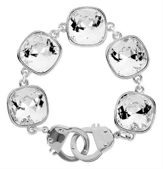 eklexic CUSHION CUT CRYSTALS & CUFFS BRACELET (Silver)