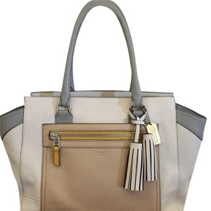 Coach Tote Carryall Grey Leather Satchel