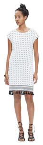 Madewell short dress White Woven Printed Cap Sleeve on Tradesy