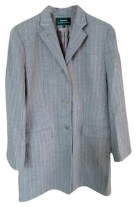 Lauren by Ralph Lauren Dove grey with white pinstripe Blazer