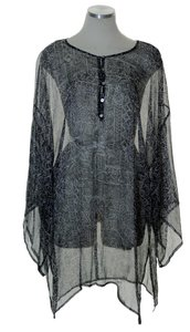 Chico's Printed Sheer Woven Oversized Tunic