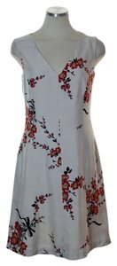 Tracy Reese short dress Light Gray Silk Floral Sleeveless Woven A-line on Tradesy