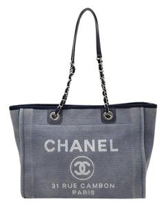 Chanel Denim Deauville Tote in Navy